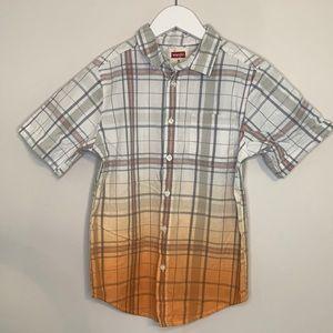 Boys Wrangler Button Down Short Sleeve Top Size 8